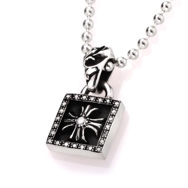 クロムハーツ フレームドCHプラスチャーム w/ダイヤモンドパヴェ ペンダント ネックレス