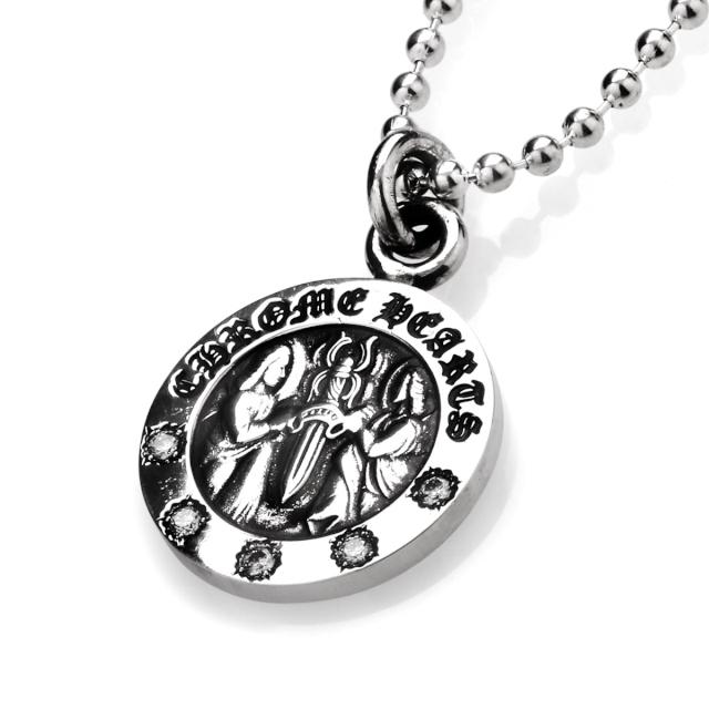 クロムハーツ エンジェルメダルチャーム V2 w/ダイヤモンド5石 ペンダント ネックレス