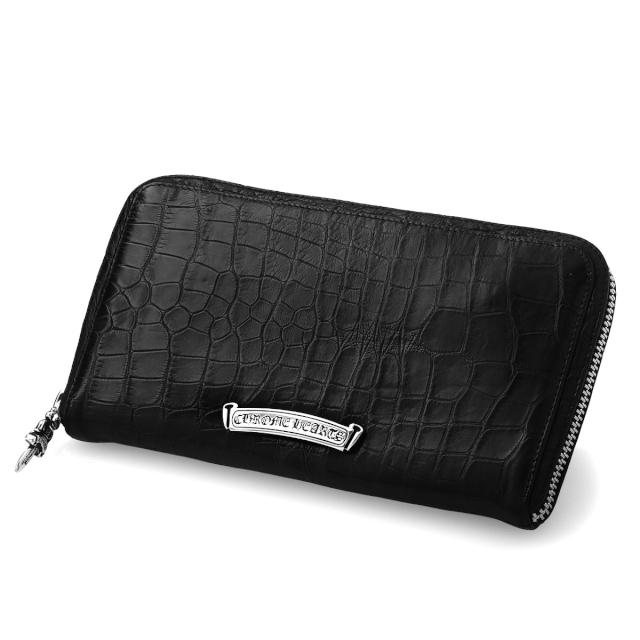 クロムハーツ 財布 レクタンギュラーFジップウォレット #2 (アリゲーター) ブラック